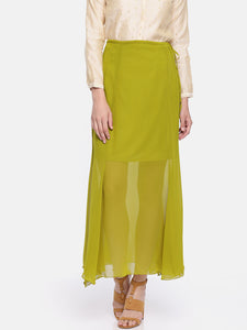 Long Skirt With Short Lining In Soft Georgette