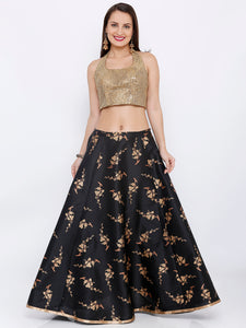 ALL OVER GOLD PRINTED SKIRT