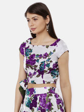 Load image into Gallery viewer, Reversible Tie Blouse Printed And Plain