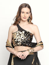 Load image into Gallery viewer, SEQUINED ONE SHOULDER STRETCH TOP