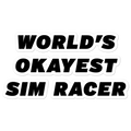 Worlds Okayest Sim Racer Sticker
