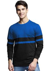 Men Multicoloured Cotton Blend Round Neck Tees - Tee-Zoo