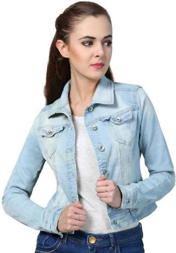 Stylish Denim Jacket - Tee-Zoo