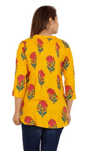 Load image into Gallery viewer, Reyon red flower tunic top - Tee-Zoo