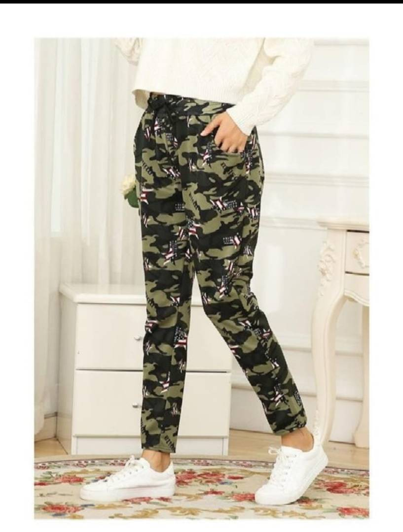 Cotton Spandex Camouflage Printed Jeggings - Tee-Zoo