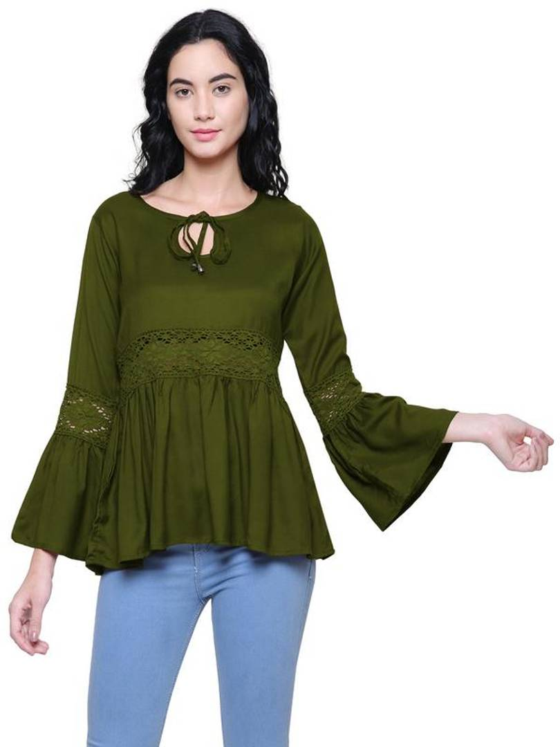 Alluring Rayon Tops For Women's - Tee-Zoo