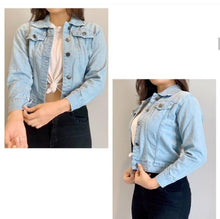 Load image into Gallery viewer, Tough Looking Denim Jackets For Women - Tee-Zoo