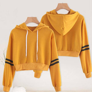 Yellow With Black Strip Sweat Shirt - Tee-Zoo