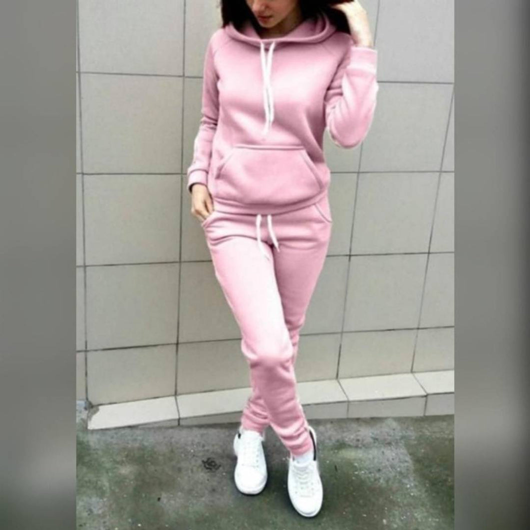 Women's Hooded Sweatshirt & Tracksuit With Cap - Tee-Zoo