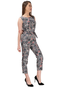 Multi Printed Polycrepe Stylish Jumpsuit - Tee-Zoo
