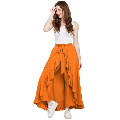 Women's Eligent Pent Skirt With Pure American Creap Fabric Free Size (28-38) - Tee-Zoo