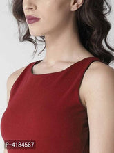 Load image into Gallery viewer, Stylish Maroon Sleeveless Crepe Solid Jumpsuit For Women - Tee-Zoo