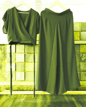 Load image into Gallery viewer, Women's Rayon Solid Top & Palazzo Set - Tee-Zoo
