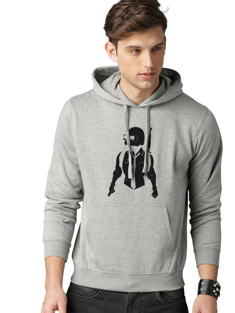 Full Sleeve Music Love Print Hooded Sweatshirt For Mens - Tee-Zoo