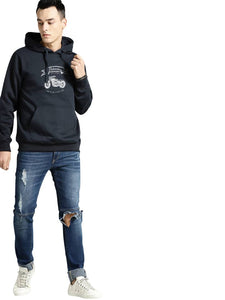 Full Sleeve BULLET Print Hooded Sweatshirt For Mens - Tee-Zoo