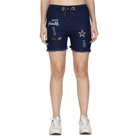 Women Denim Shorts - Tee-Zoo