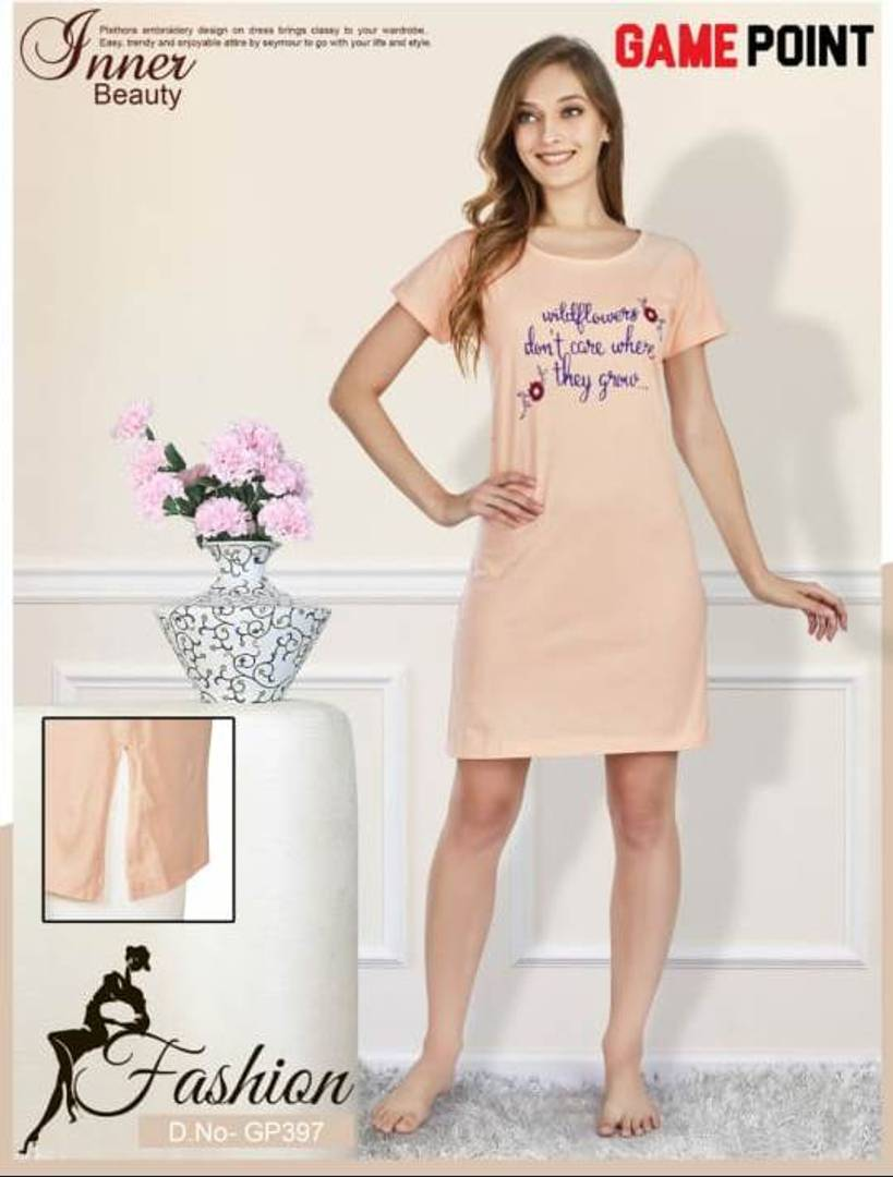 Cotton Printed Night Dresses - Tee-Zoo