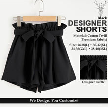 Load image into Gallery viewer, Stylish Cotton Solid Ruffle Design Shorts For Women - Tee-Zoo