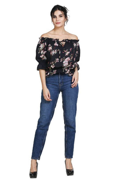 Women's Stylish and Trendy Georgette Top - Tee-Zoo