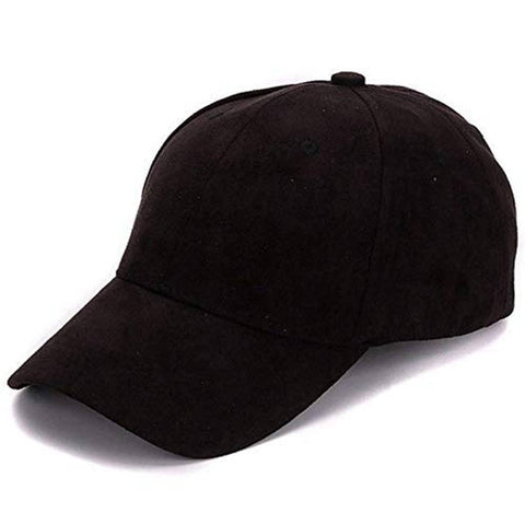 Stylish Black Cotton Cap For Men's - Tee-Zoo