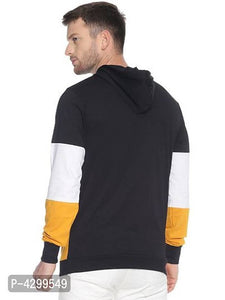 Men's Multicoloured Cotton Colourblocked Hooded Tees - Tee-Zoo