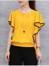 Load image into Gallery viewer, Women's Regular Length Yellow Rayon Tops - Tee-Zoo