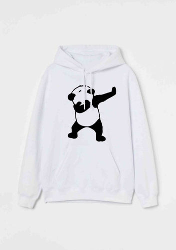 Stylish White Cotton Printed Hooded Sweatshirt For Men - Tee-Zoo
