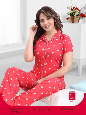 New Fancy Printed  Night Suits For Women & Girls - Tee-Zoo
