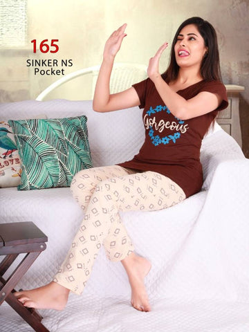 Lounge Set - Cotton Fabric Women's Night Suit - Tee-Zoo