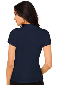 Turtle Neck Regular Fit T shirt for women - Tee-Zoo