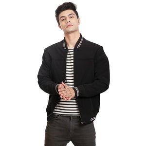 Stylish Black Jacket For Men - Tee-Zoo