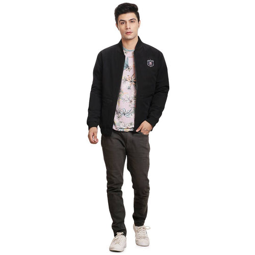 Stylish Casual Black Jacket For Men - Tee-Zoo