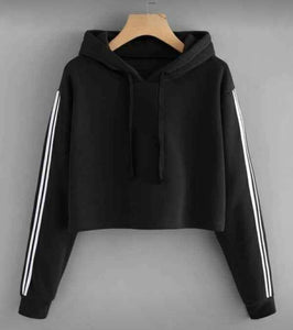Classic Black Partywear Fleece Sweatshirts For Women - Tee-Zoo