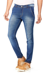 Hasasi Stylish Regular Fit Indigo Blue Jeans For Men - Tee-Zoo