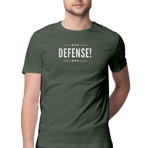 Defense - Half-Sleeve Men's T-Shirt - Tee-Zoo