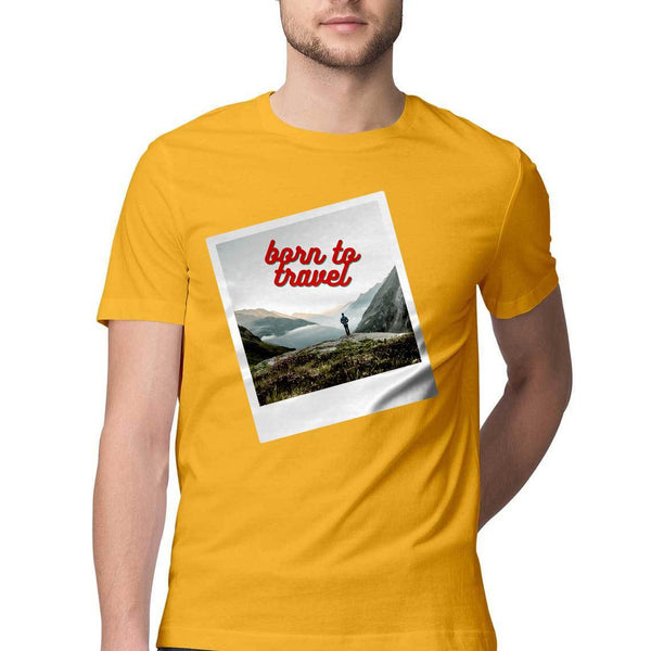 Born To Travel - Short-Sleeve Men's T-Shirt - Tee-Zoo