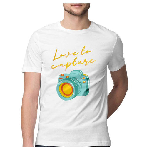 Love To Capture - Short-Sleeve Men's T-Shirt - Tee-Zoo