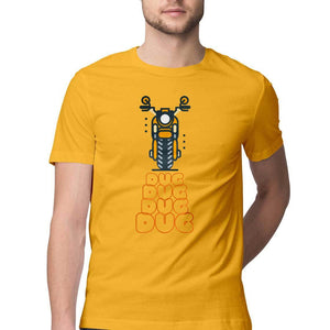 Bike Riding Dug Dug - Short-Sleeve Men's T-Shirt - Tee-Zoo