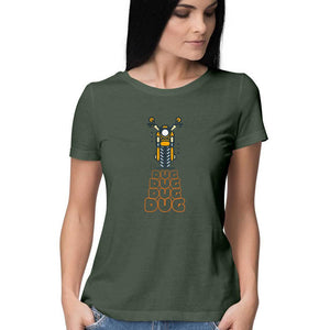 Dug Dug Bike - Short-Sleeve Women's T-Shirt - Tee-Zoo