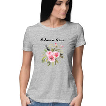 Load image into Gallery viewer, Bloom in Grace - Short-Sleeve Women's T-Shirt - Tee-Zoo