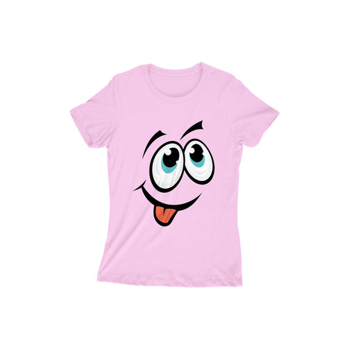 Cartoon Face 101 - Short-Sleeve Women's T-Shirt - Tee-Zoo