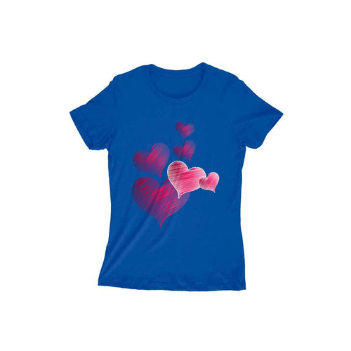 Hearts - Short-Sleeve Women's T-Shirt - Tee-Zoo