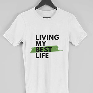 Living my best Life - Short-Sleeve Men's T-Shirt - Tee-Zoo