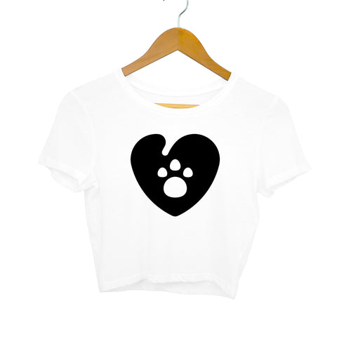 Paw Love - Women's Crop Top - Tee-Zoo