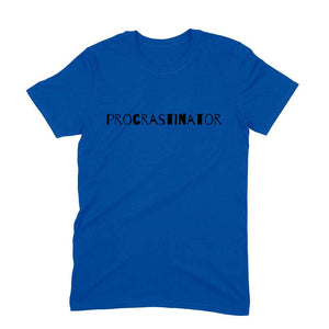 Procrastinator Men's T-Shirt - Short-Sleeve Men's T-Shirt - Tee-Zoo