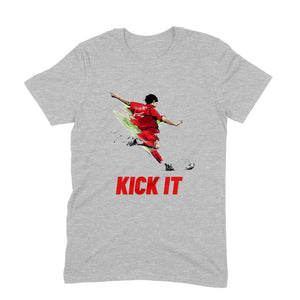 Kick It Football T-Shirt - Short-Sleeve Men's T-Shirt - Tee-Zoo