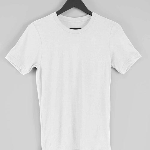 White Plain T-shirt-Short- Sleeve-Men's Plain T-shirt - Tee-Zoo
