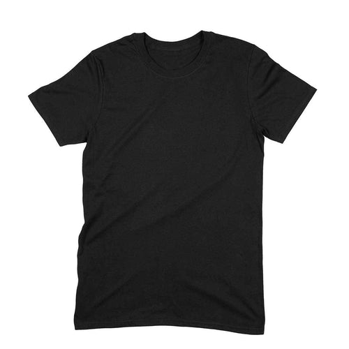 Black Plain T-shirt-Short- Sleeve-Men's T-shirt - Tee-Zoo
