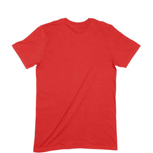 Red Plain T-shirt-Short- Sleeve-Men's Plain T-shirt - Tee-Zoo