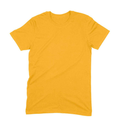 Golden Yellow Plain T-shirt - Short- Sleeve-Men's Plain T-shirt - Tee-Zoo